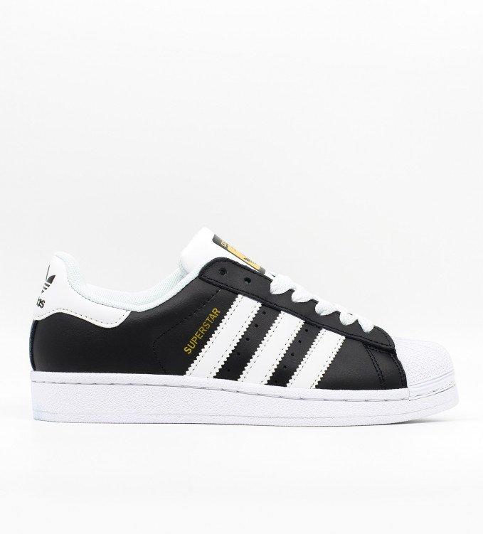 Adidas Superstar black wth white str