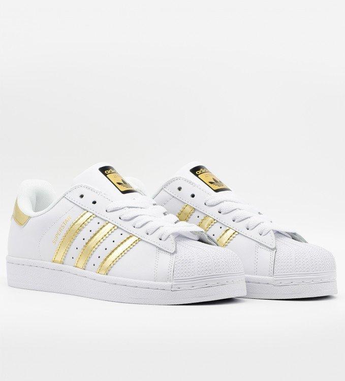Adidas Superstar gold-white