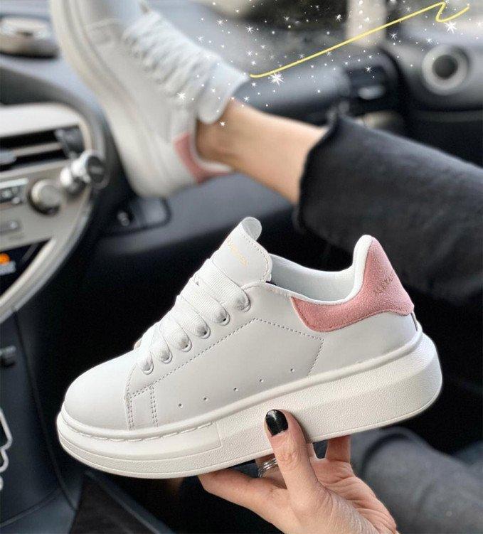Alexander McQueen white-pink