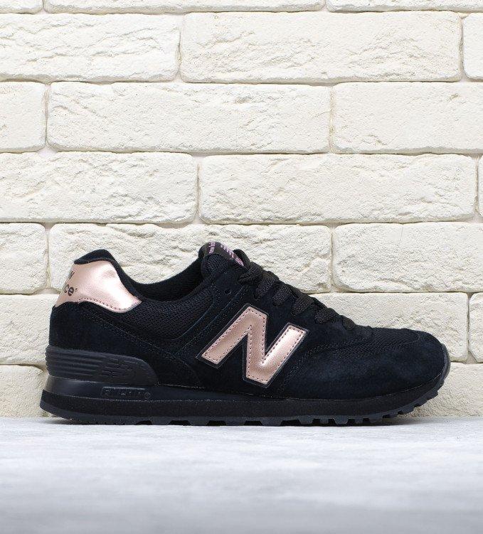 New Balance 574 Black-Rose Gold