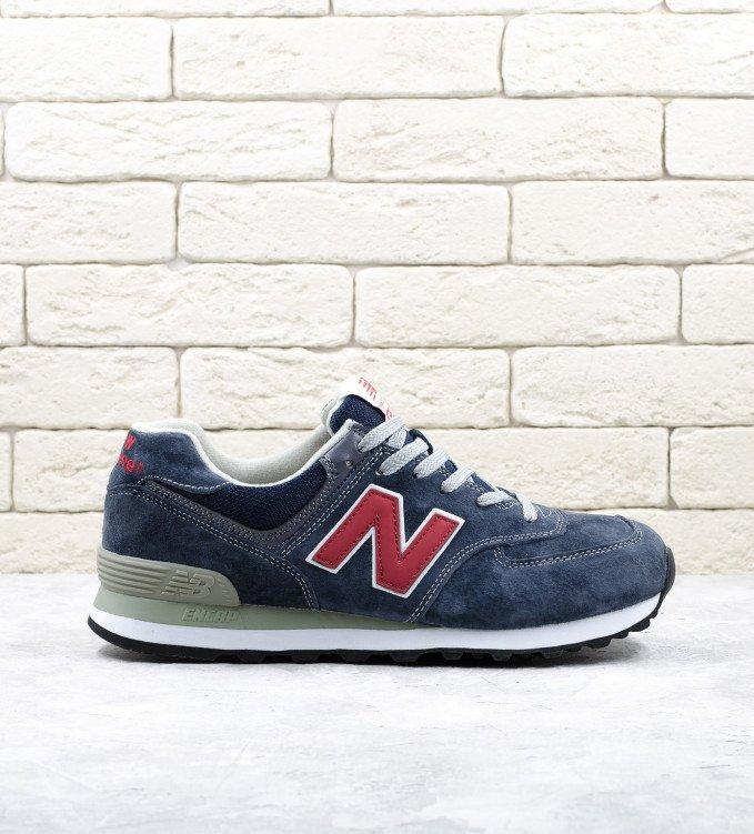 New Balance 574 Dark blue-red