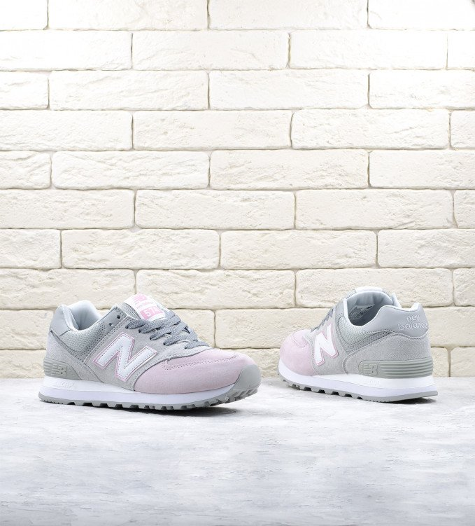 New Balance 574 Grey-Light Pink Premium
