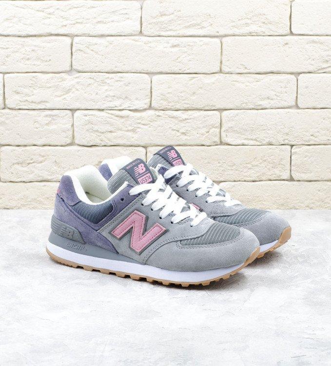 New Balance 574 Grey-Purple-Pink