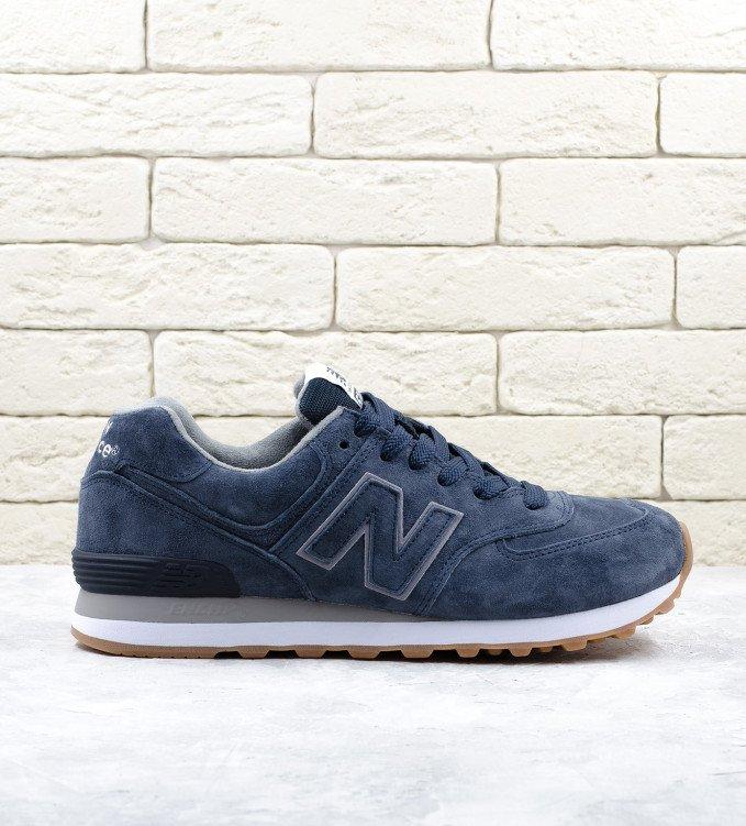 New Balance 574 Gum Pack Navy