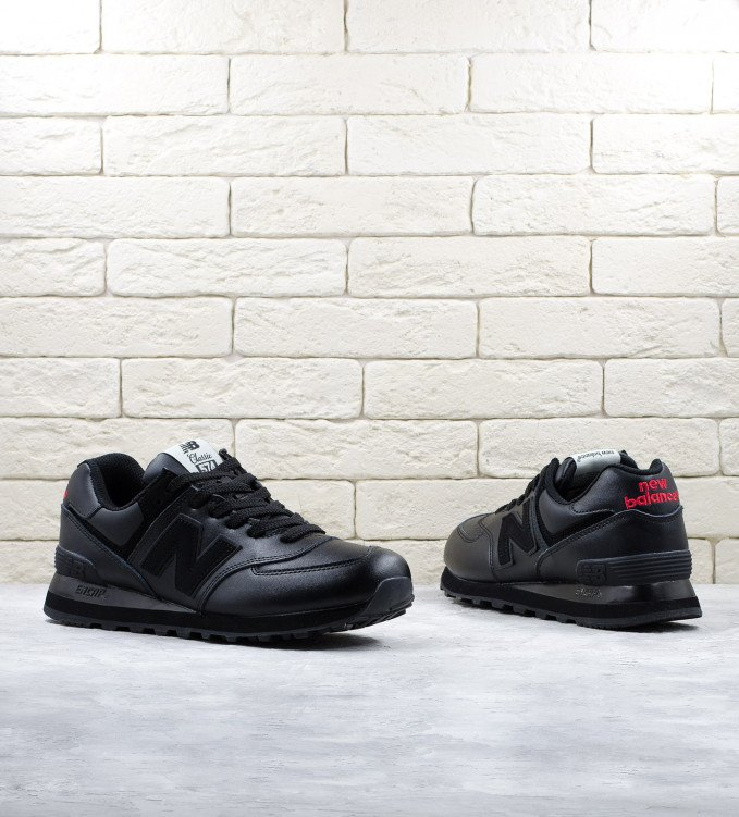 New Balance 574 Leather all black