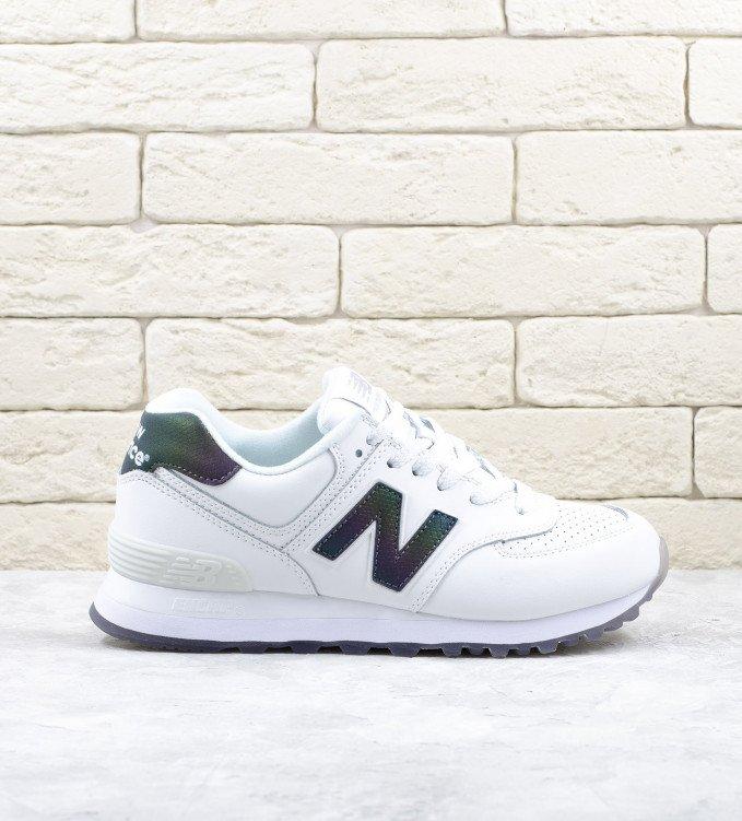 New Balance 574 Leather White Gradient