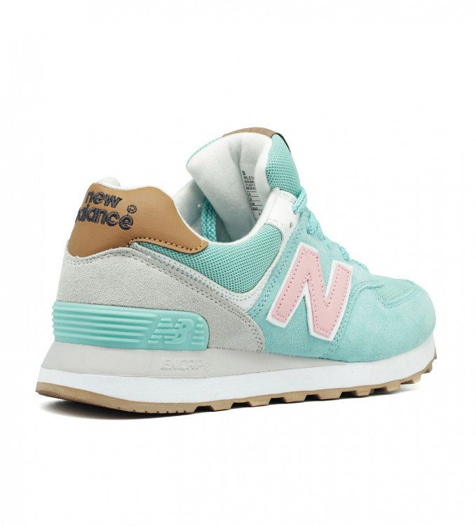 New Balance 574 Mint-Pink