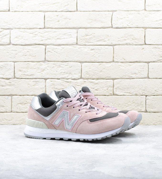 New Balance 574 Pink-Silver