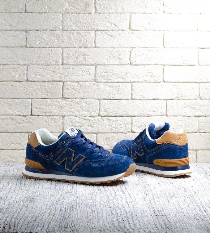 New Balance 574 blue-brown