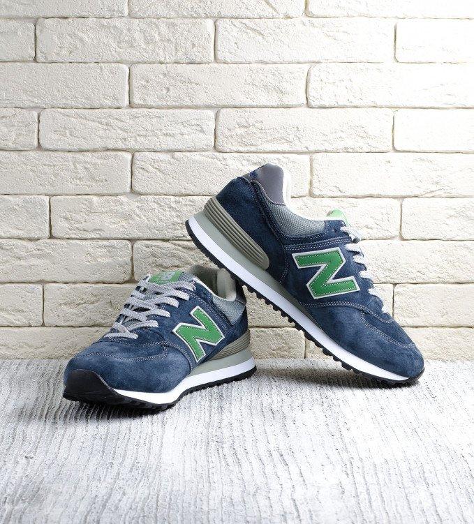 New Balance 574 Green-Dark Blue
