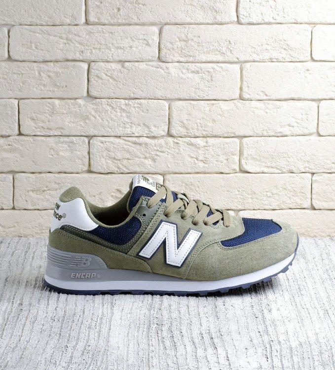 New Balance 574 Olive-blue