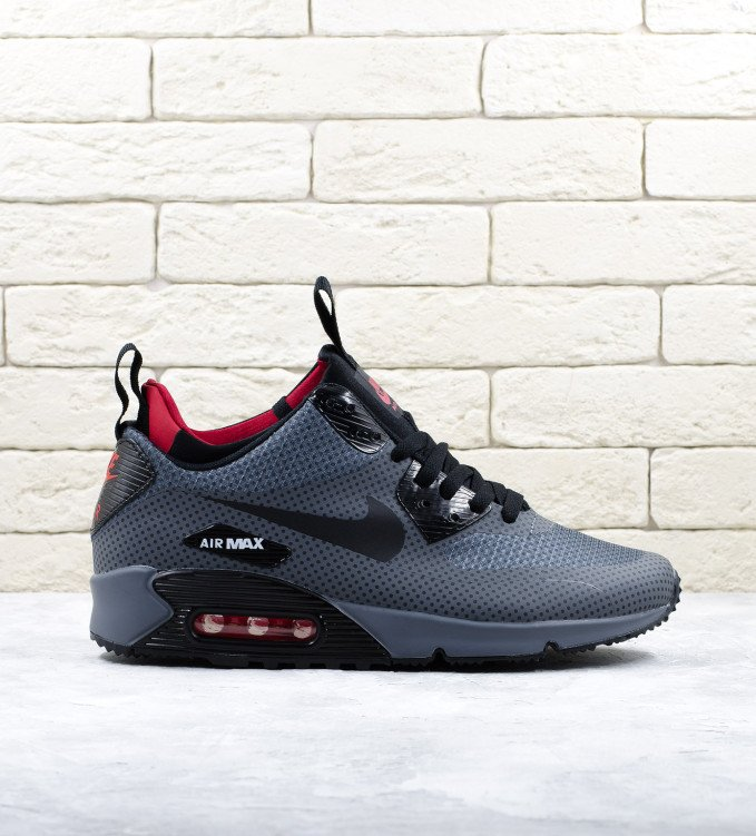 Nike Air Max 90 Mid Winter Red Grey