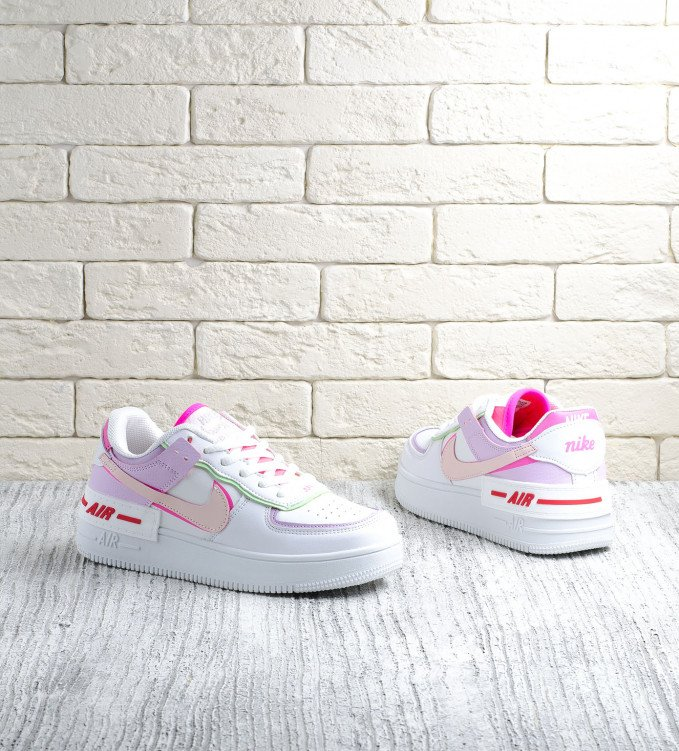 Nike Air Force 1 Double Violet Pink