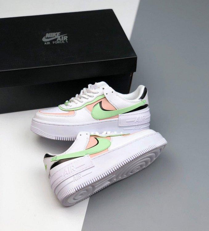 Nike Air Force 1 Shadow White-Green