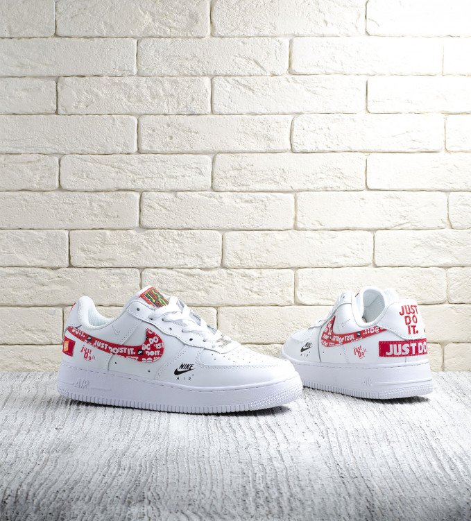 Nike Air Force 1 White-red