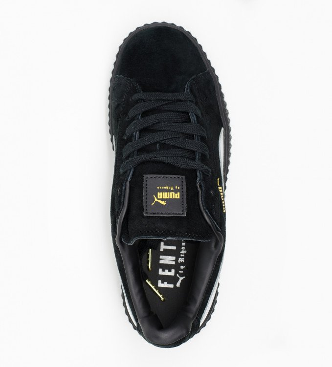 Puma Creepers suede blk wth white str