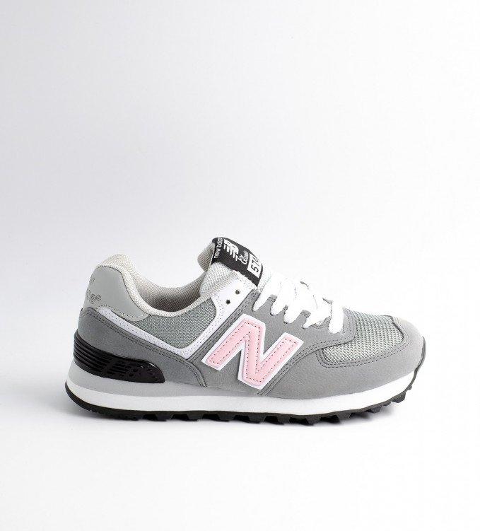 New Balance 574 Light Gray-Pink