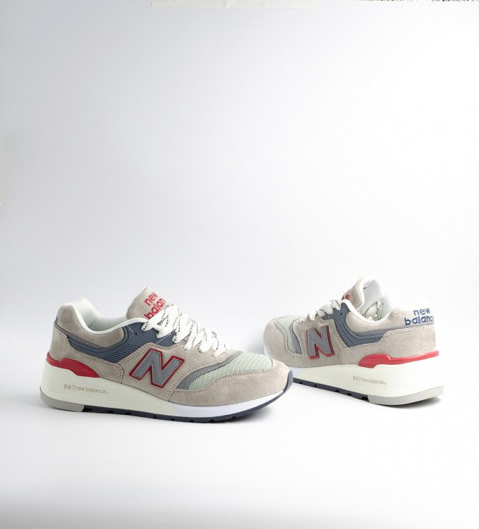 New Balance 997 Tan-Red