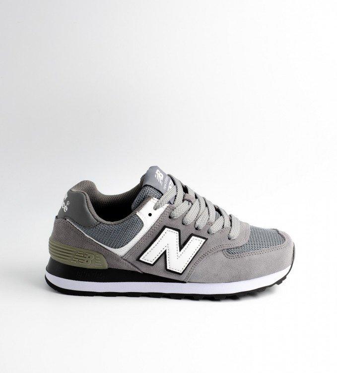 New Balance 574 Gray-White