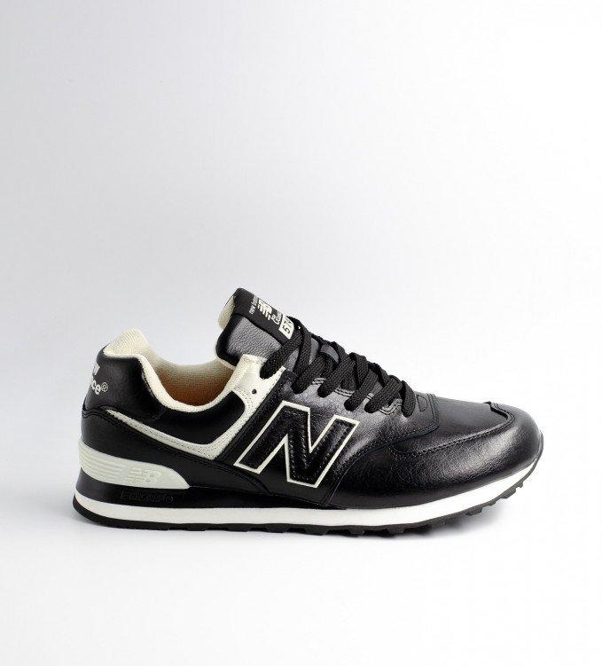 New Balance 574 Leather Brown-Black